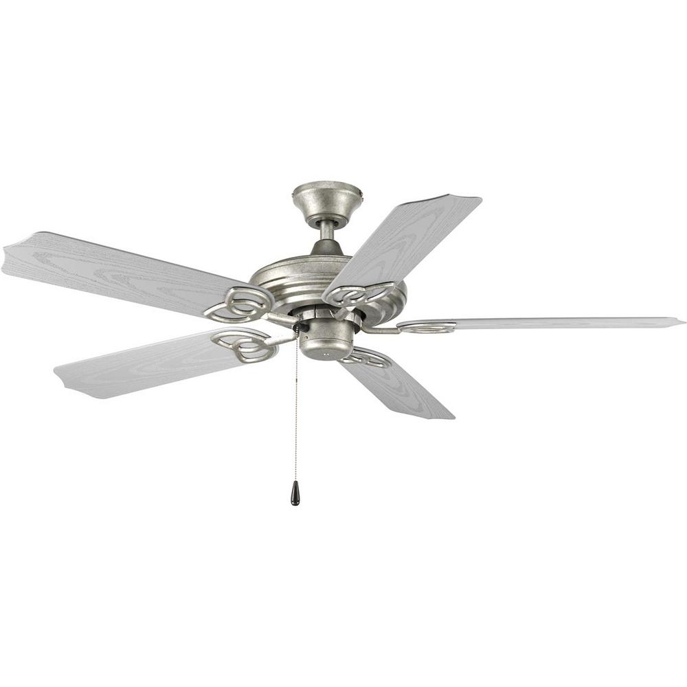Newest Galvanized Outdoor Ceiling Fans With Light Pertaining To Progress Lighting Air Pro Collection 52 In. Indoor Or Outdoor (Gallery 11 of 20)