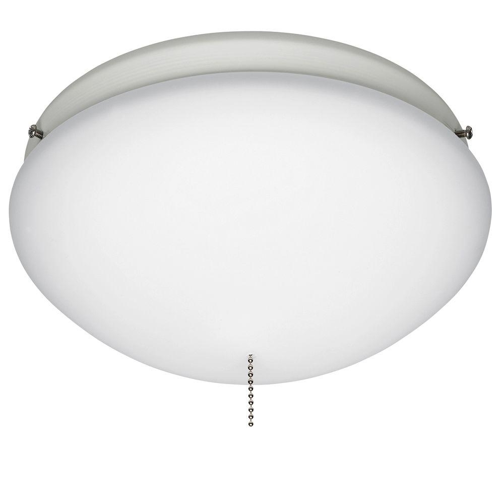 Newest Hunter White Outdoor Ceiling Fan Globe Light 28388 – The Home Depot Inside Outdoor Ceiling Fans With Light Globes (View 10 of 20)