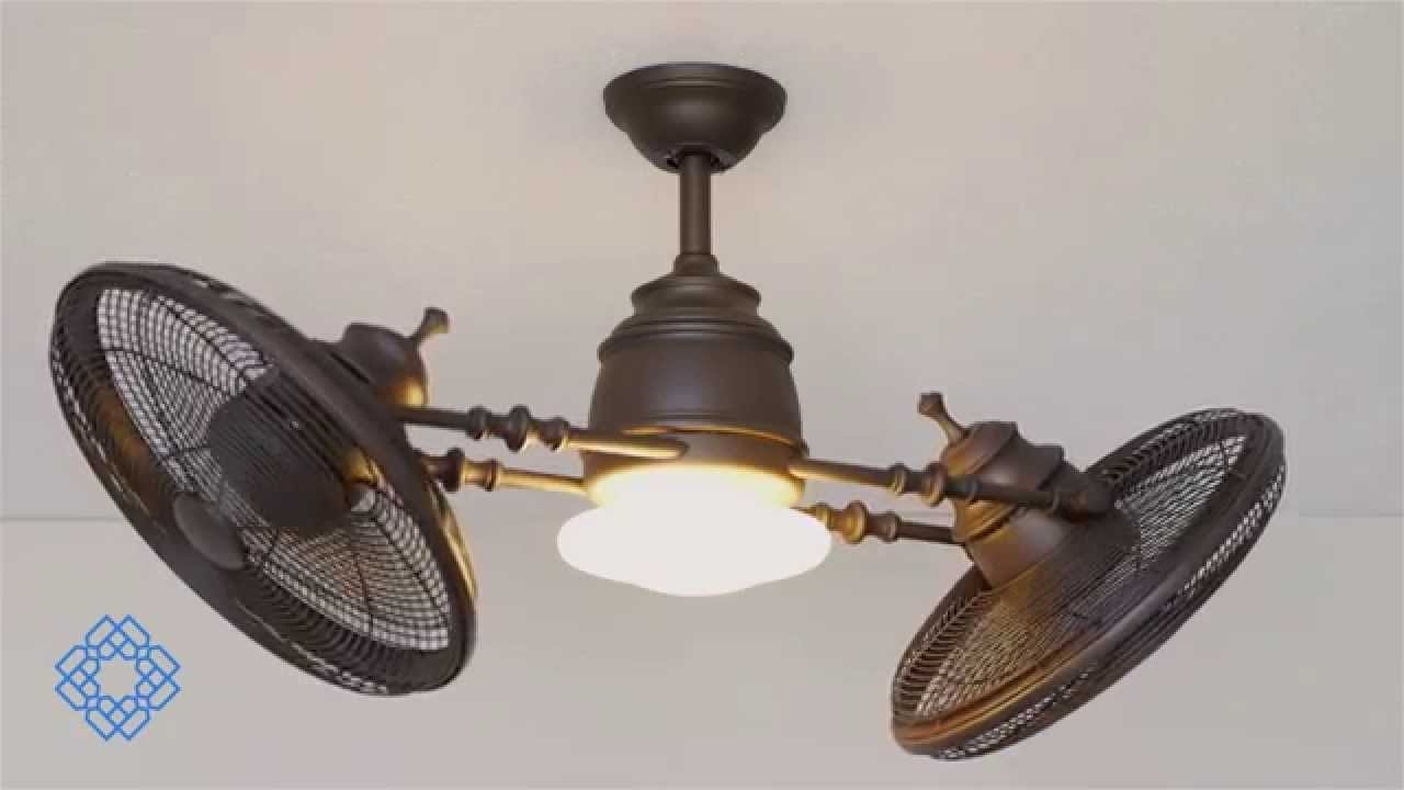Newest Minka Aire Vintage Gyro Ceiling Fan – Bellacor – Youtube Inside Vintage Outdoor Ceiling Fans (View 9 of 20)