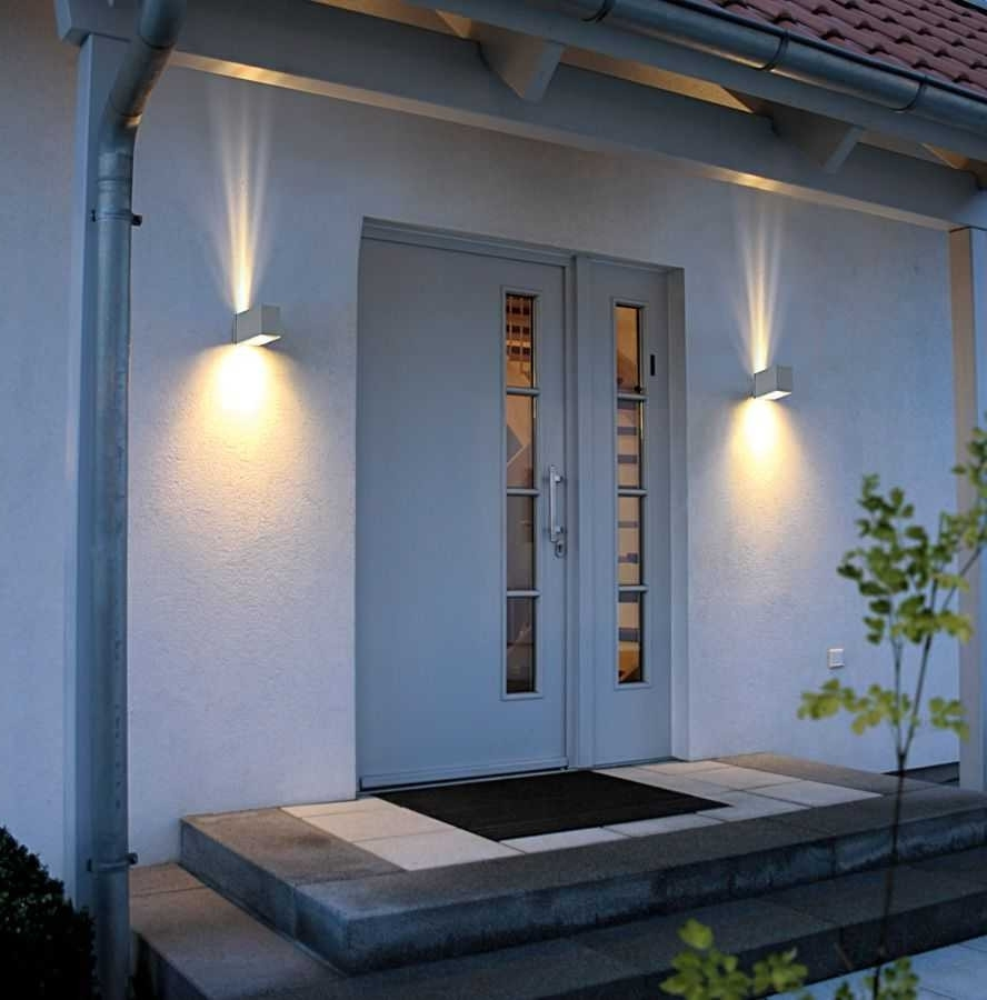 Newest Modern Outside Wall Lights Uk Contemporary Outdoor Lanterns Black Pertaining To Modern Outdoor Lanterns (View 13 of 20)