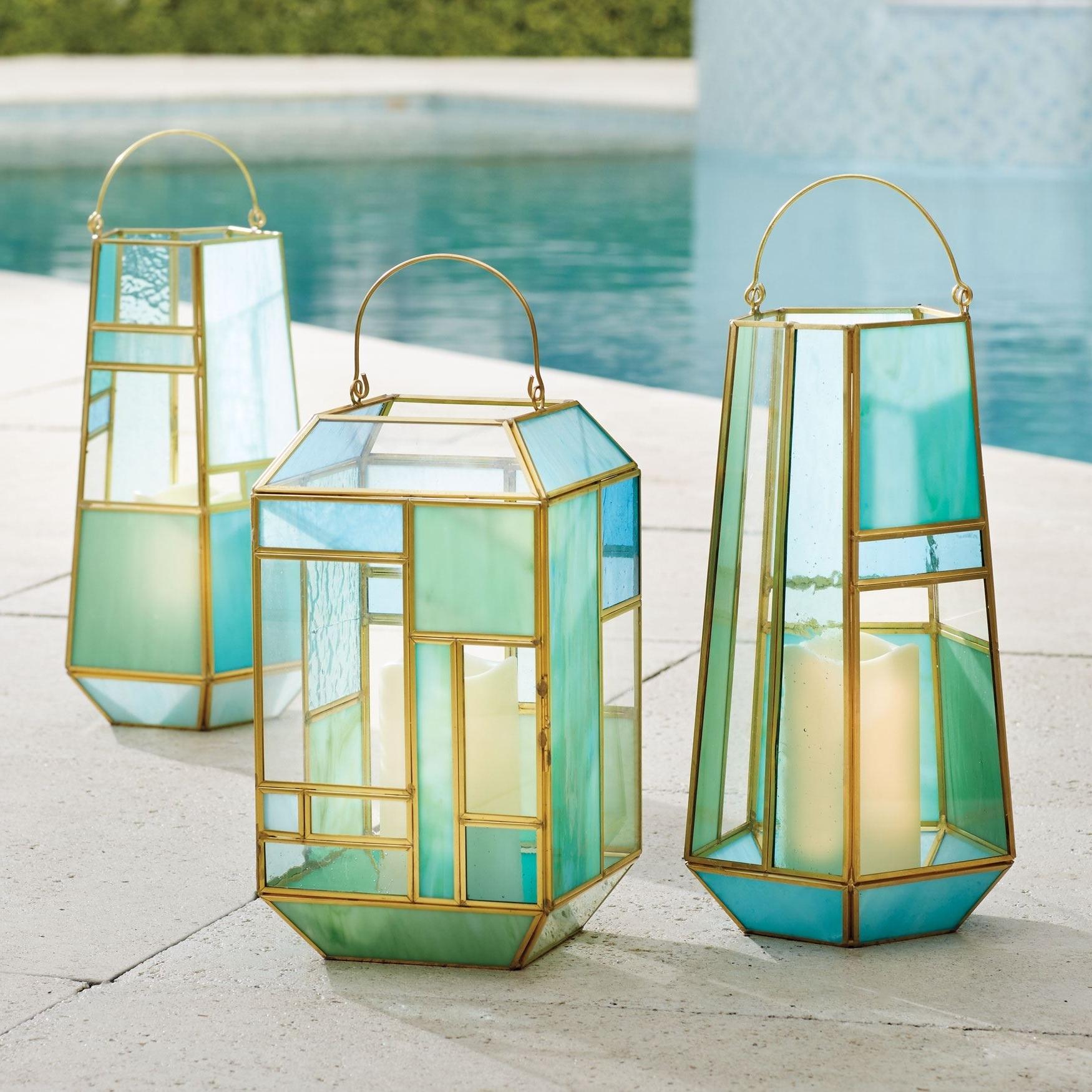 Newest Mosaic Lanterns (View 13 of 20)