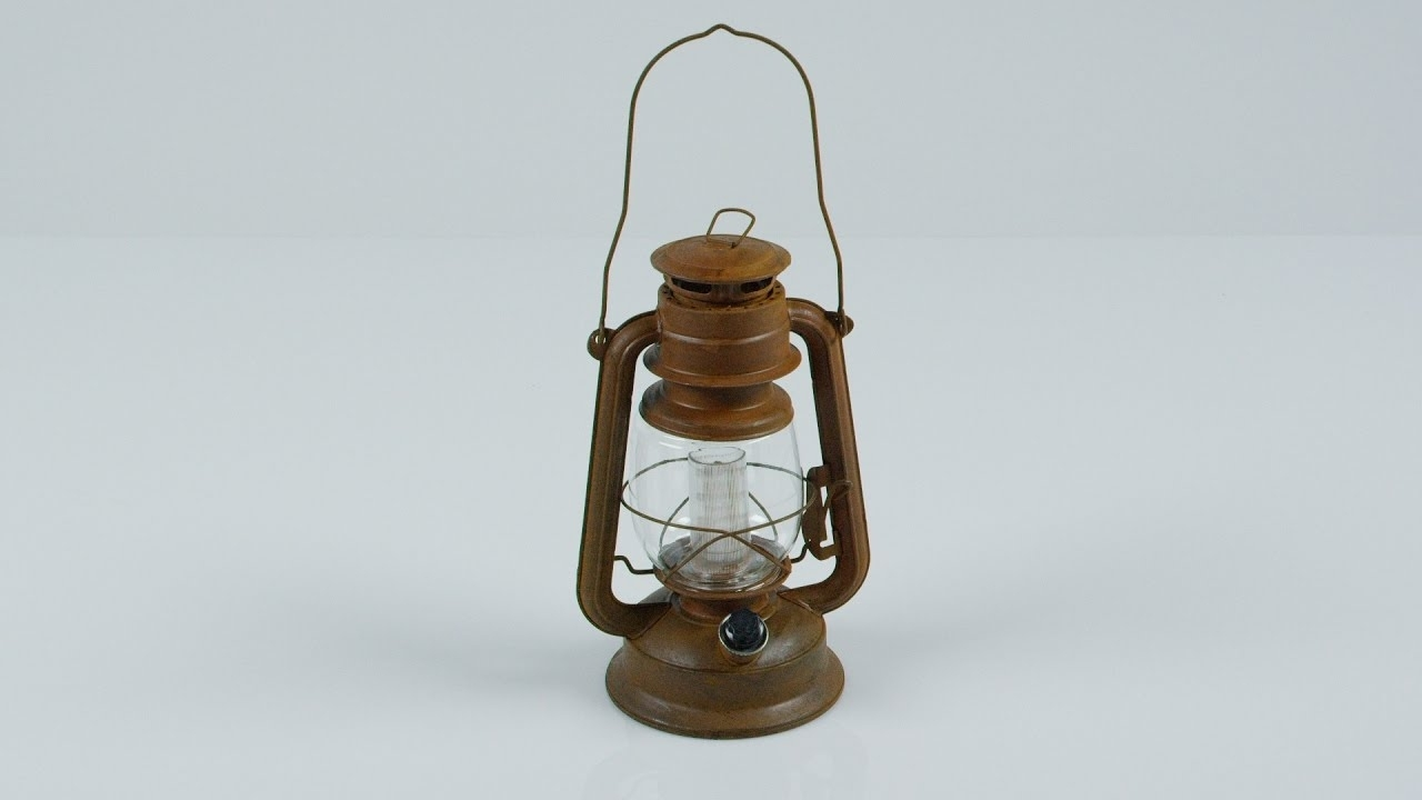 Newest Orvis – Vintage Style Rustic Battery Powered Led Hurricane Lantern In Rustic Outdoor Electric Lanterns (View 17 of 20)