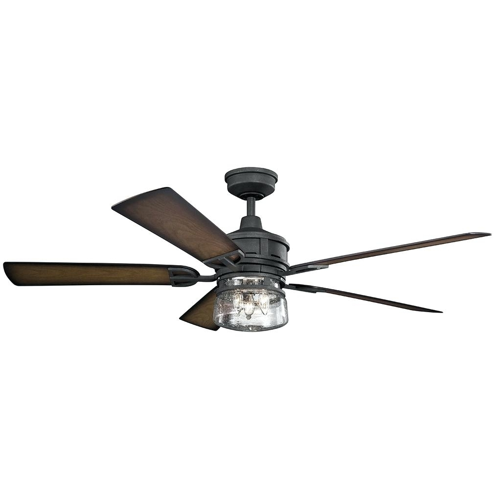 Newest Outdoor Ceiling Fans At Bunnings With Regard To Black Ceiling Fans With Light Remote Fan Kit – Hesstonspeedway (Gallery 10 of 20)