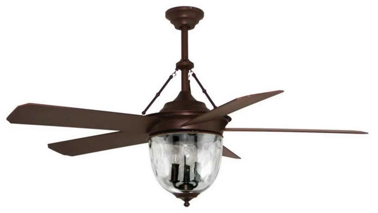 Newest Outdoor Ceiling Fans With Light And Remote Regarding Litex E Km52Abz5Cmr Knightsbridge Collection 52 Inch Indoor/outdoor (View 9 of 20)