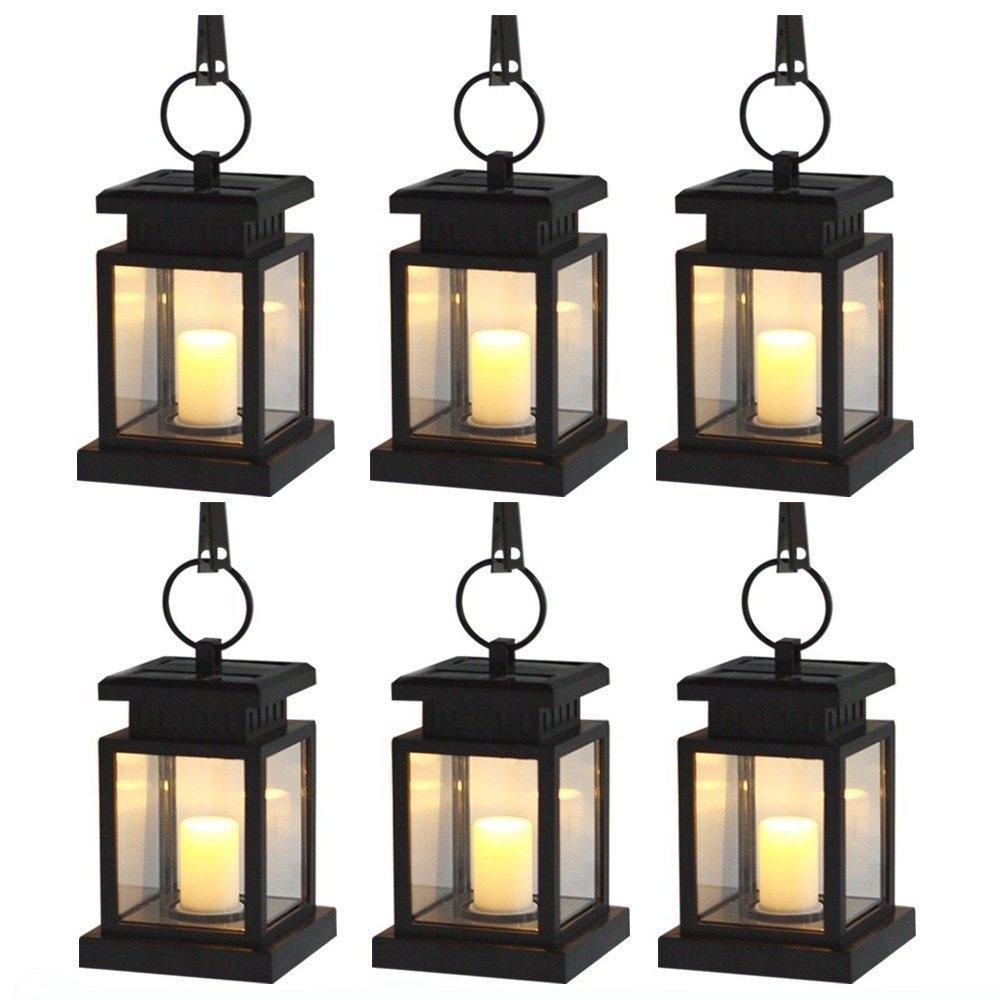 Newest Outdoor Hanging Lanterns For Candles Pertaining To 2018 6 / Pack Solar Power Led Hang Light Outdoor Lantern Candle (View 9 of 20)