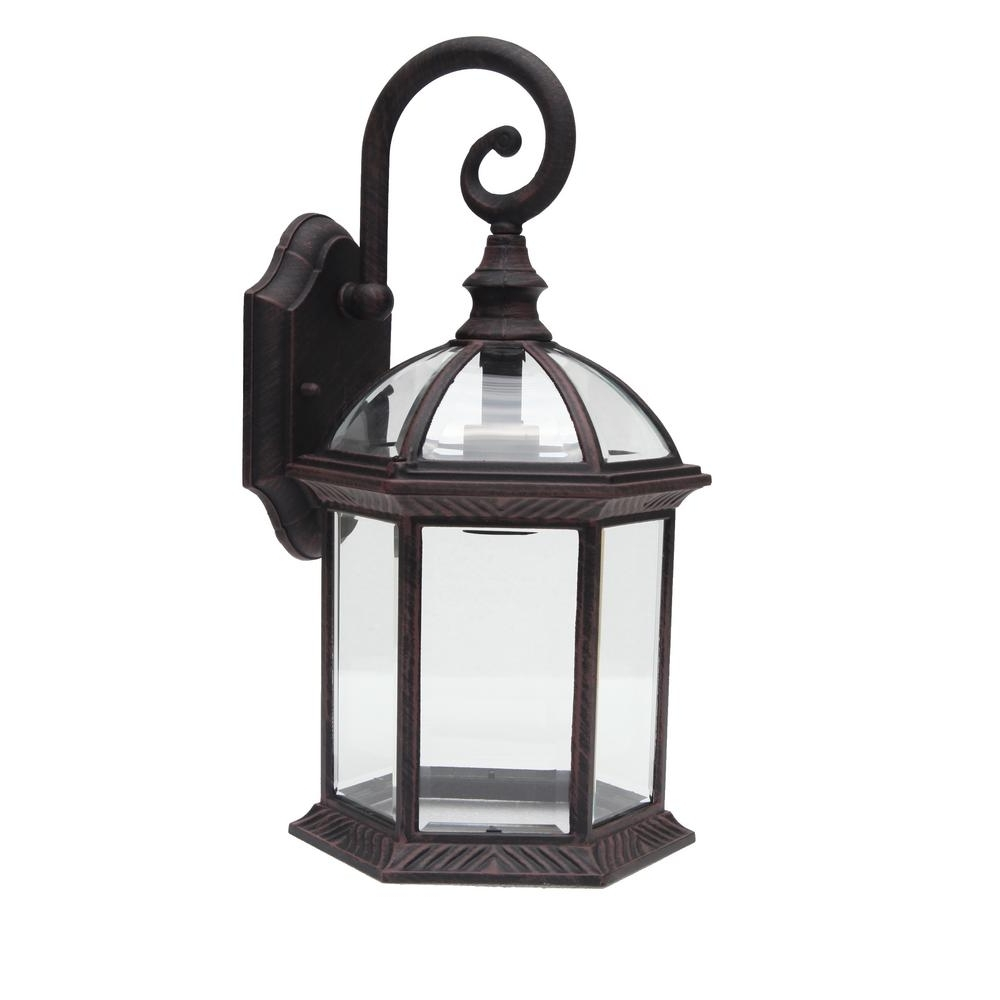 Newest Outdoor Lanterns Decors With Y Decor Adalyn 1 Light Venetian Bronze Outdoor Wall Mount Lantern (View 18 of 20)