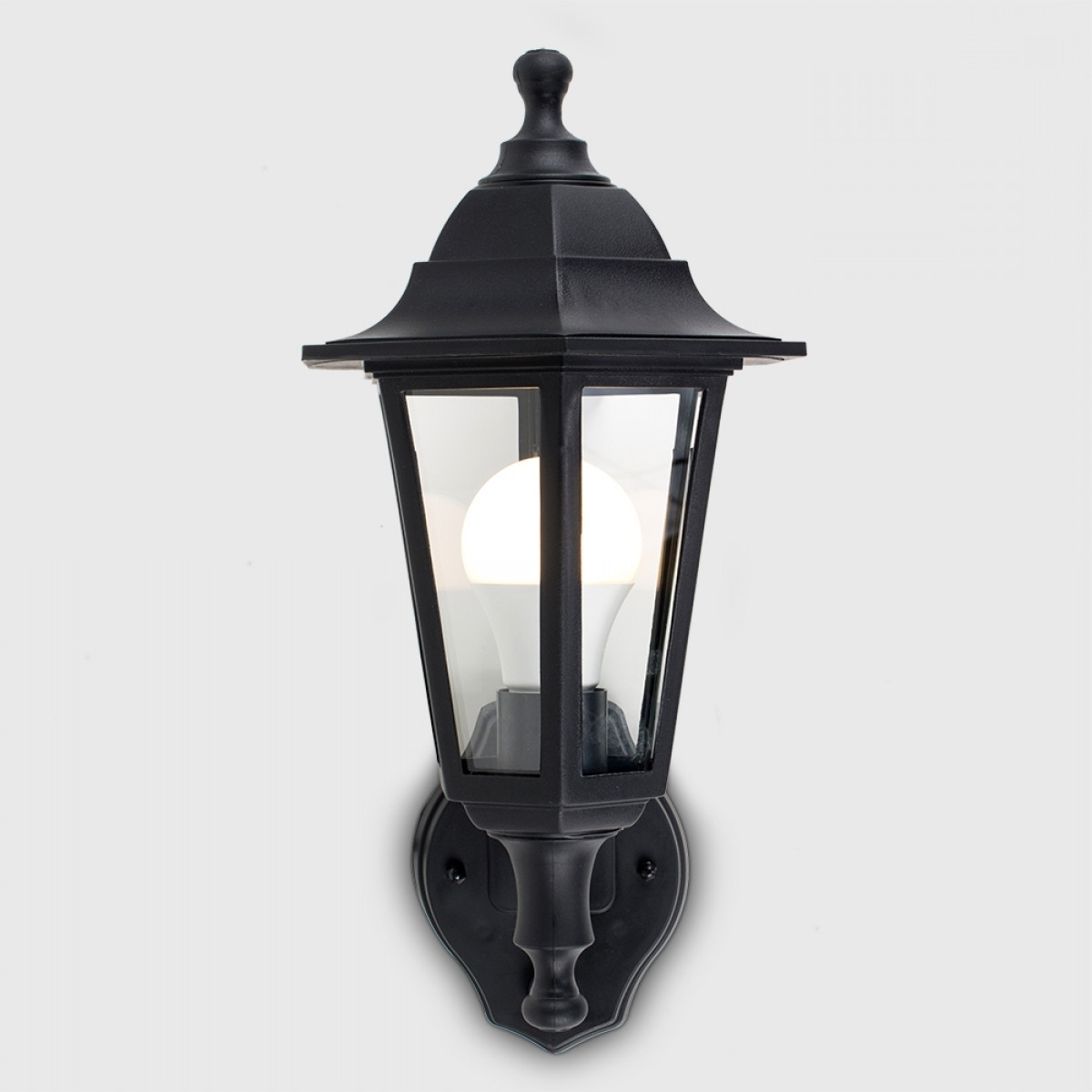 Newest Outdoor Lanterns With Pir Pertaining To Black Mayfair Pir Ip44 Outdoor Lantern (View 10 of 20)