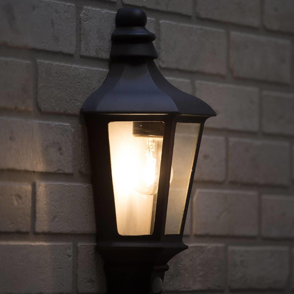 Newest Outdoor Pir Lanterns Throughout Perry Outdoor Pir Half Lantern – Dark Grey From Litecraft (View 10 of 20)