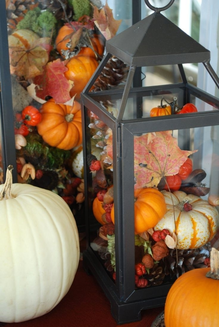 Newest Outdoor Pumpkin Lanterns With Regard To Diy Fall Decorations (View 14 of 20)