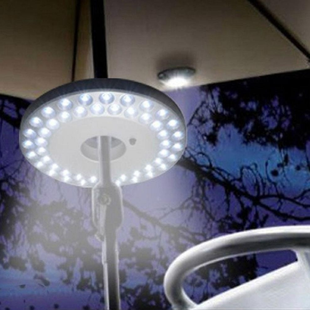 Newest Outdoor Umbrella Lanterns For 48 Led Outdoor Umbrella Night White Lamp Pole Light Patio Yard (View 18 of 20)