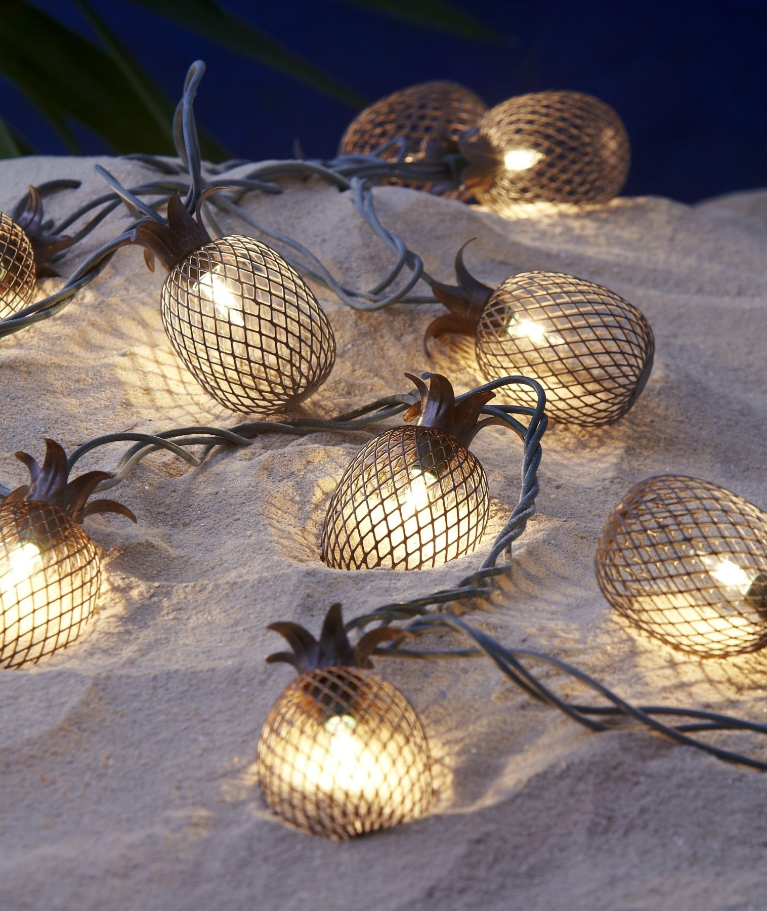 Newest Pineapple Outdoor String Lights (View 8 of 20)