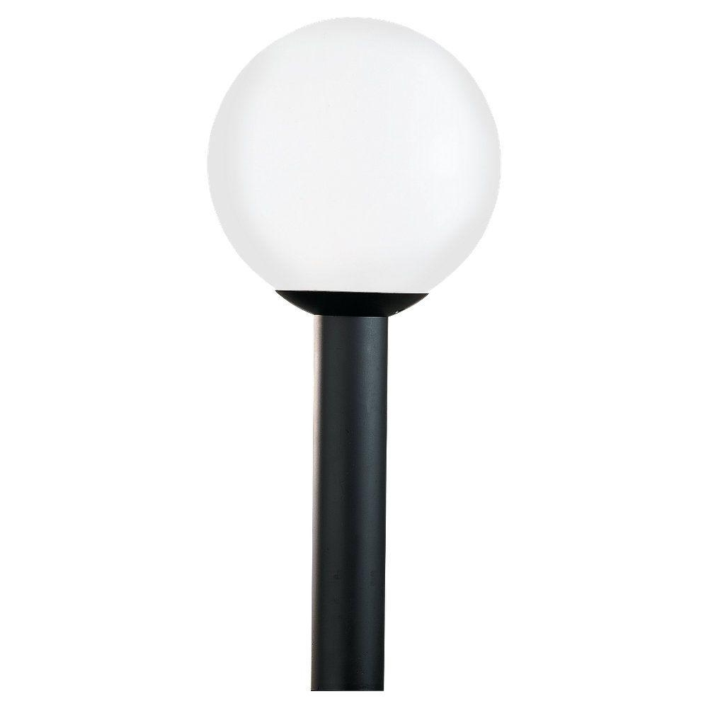 Newest Sea Gull Lighting Outdoor Globe Collection 1 Light Outdoor Post Within Outdoor Globe Lanterns (View 10 of 20)