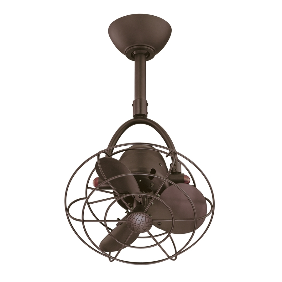 Newest Shop Matthews Diane 13 In Textured Bronze Indoor/outdoor Downrod Regarding Outdoor Ceiling Fans With Metal Blades (Gallery 10 of 20)