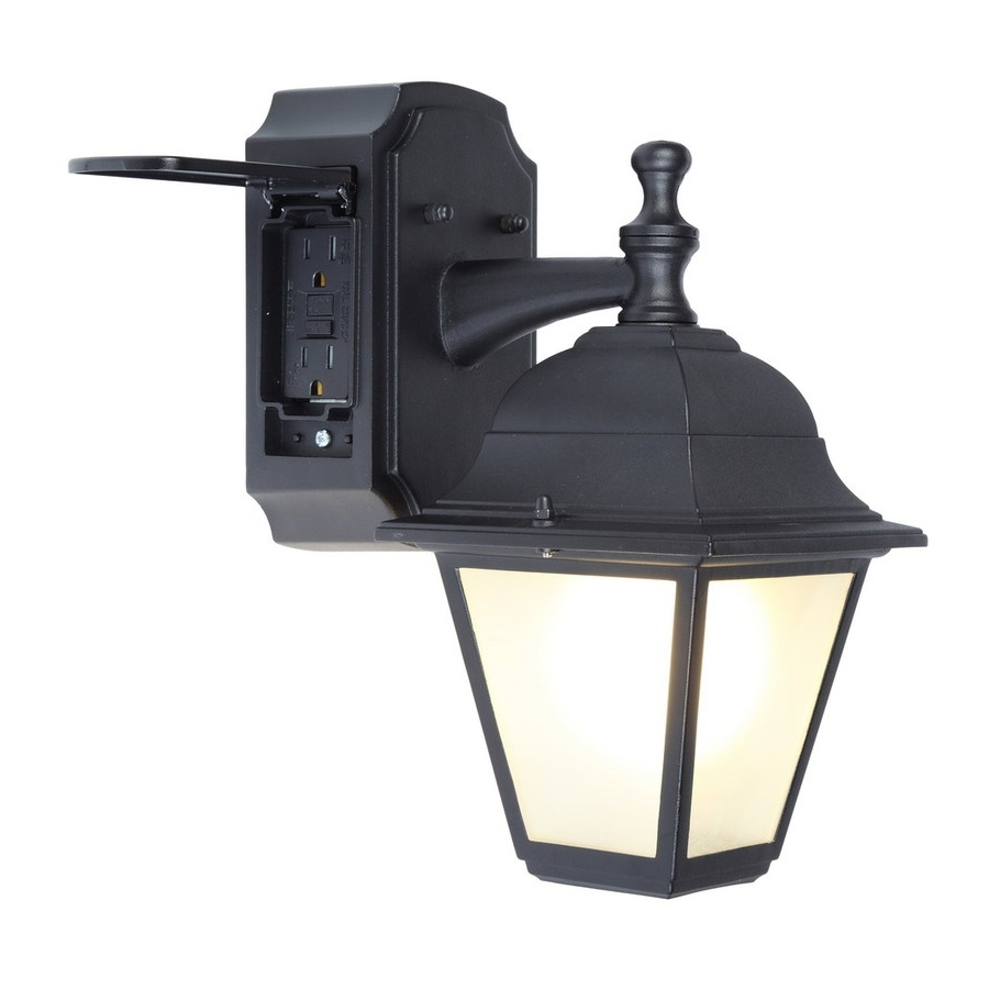 Newest Shop Outdoor Wall Lights At Lowes Inside Plug In Outdoor Lanterns (View 8 of 20)