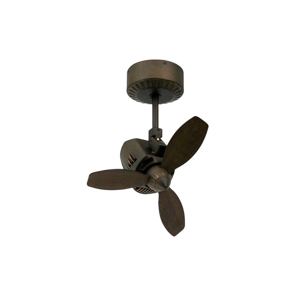 Newest Small Outdoor Ceiling Fans With Lights Regarding Troposair Mustang 18 In. Oscillating Rubbed Bronze Indoor/outdoor (Gallery 14 of 20)