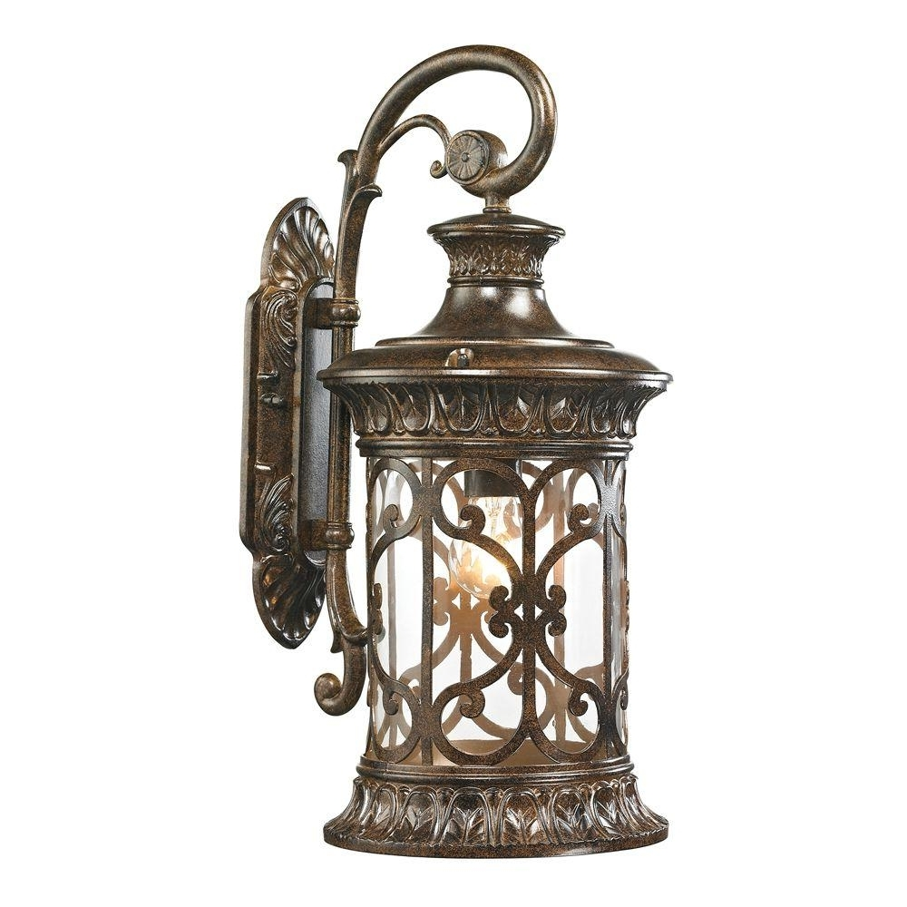 Newest Titan Lighting Marius Collection Light Hazelnut Bronze Outdoor With Regard To Inexpensive Outdoor Lanterns (Gallery 12 of 20)