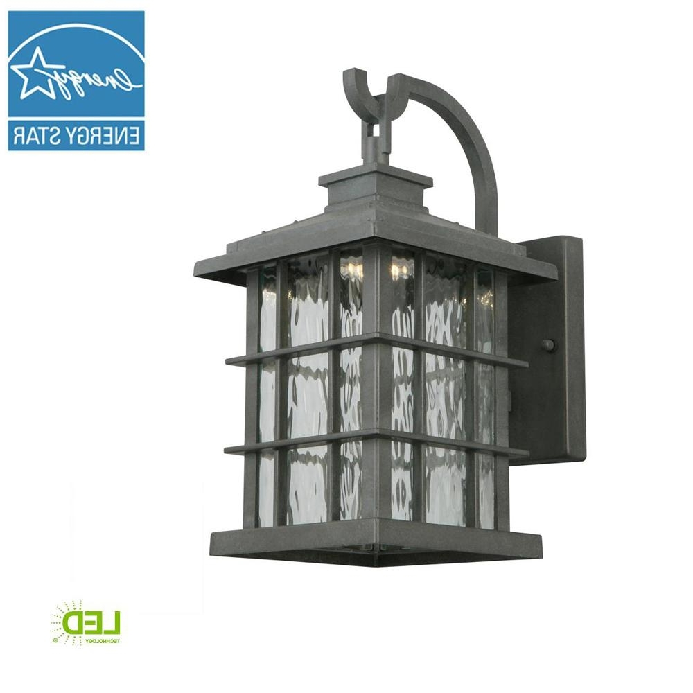 Newest Zinc Outdoor Lanterns Throughout Home Decorators Collection Summit Ridge Collection Zinc Outdoor (View 10 of 20)