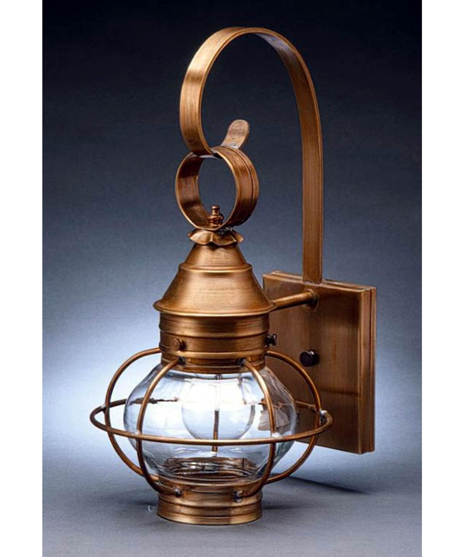 Northeast Lantern 2511 Med Onion 8 Inch Wide 1 Light Outdoor Wall With Regard To Most Current Outdoor Lighting Onion Lanterns (View 7 of 20)