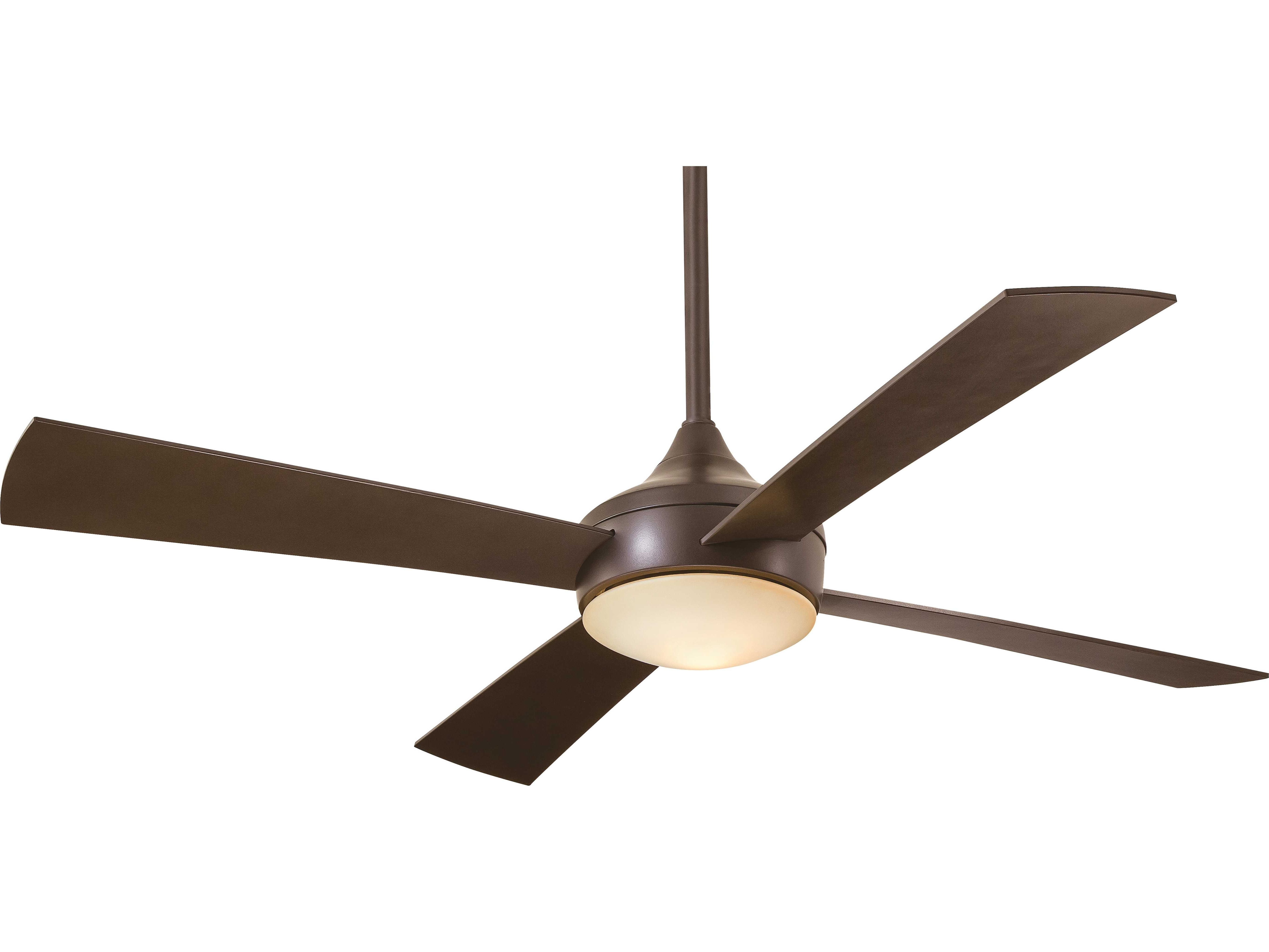 Oil Rubbed Bronze Outdoor Ceiling Fans In Most Recently Released Minka Aire Aluma Wet Oil Rubbed Bronze 52'' Wide Outdoor Ceiling Fan (View 13 of 20)