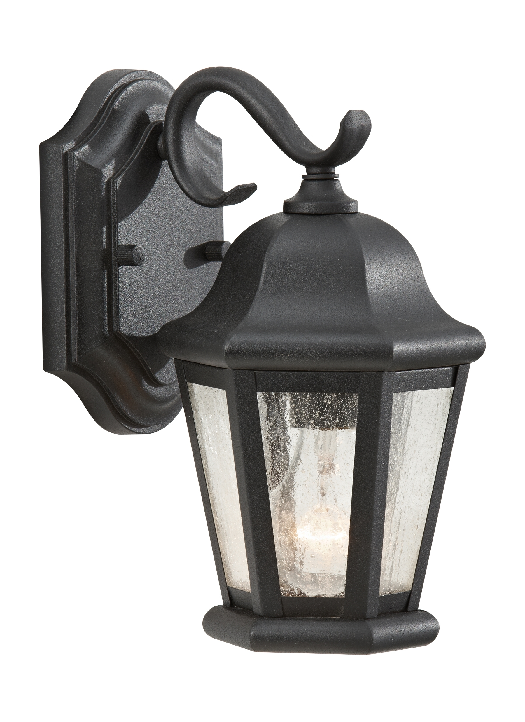 Ol5900bk,1 Light Outdoor Lantern,black For Famous Outdoor Lanterns And Sconces (View 12 of 20)