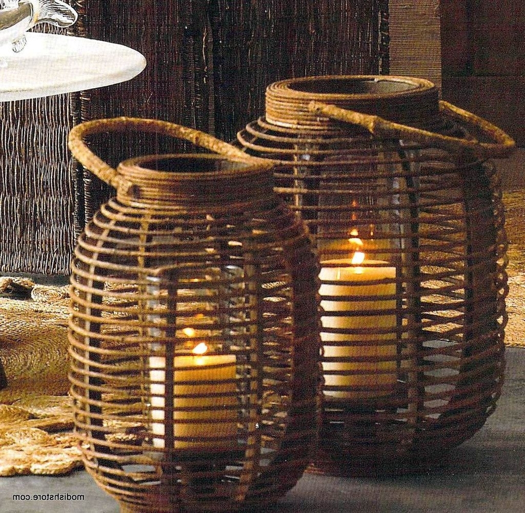 Open Weave, Outdoor Entertaining And Rattan Intended For Most Popular Outdoor Rattan Lanterns (View 19 of 20)