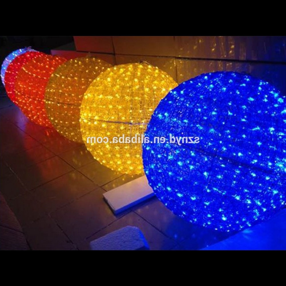 Outdoor Ball Lanterns With Preferred Christmas Outdoor Ball Lights – Democraciaejustica (Gallery 16 of 20)