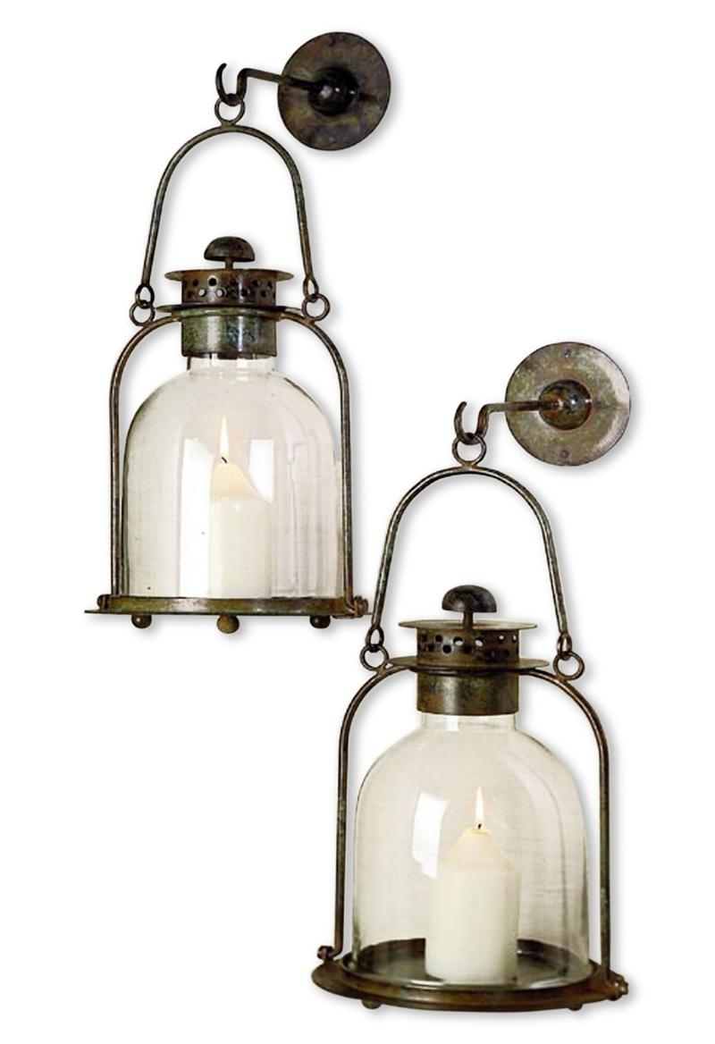 Outdoor Big Lanterns Within Most Popular Best Mason Jar Outdoor Candle Lantern Outside Candle Wall Sconces (View 19 of 20)