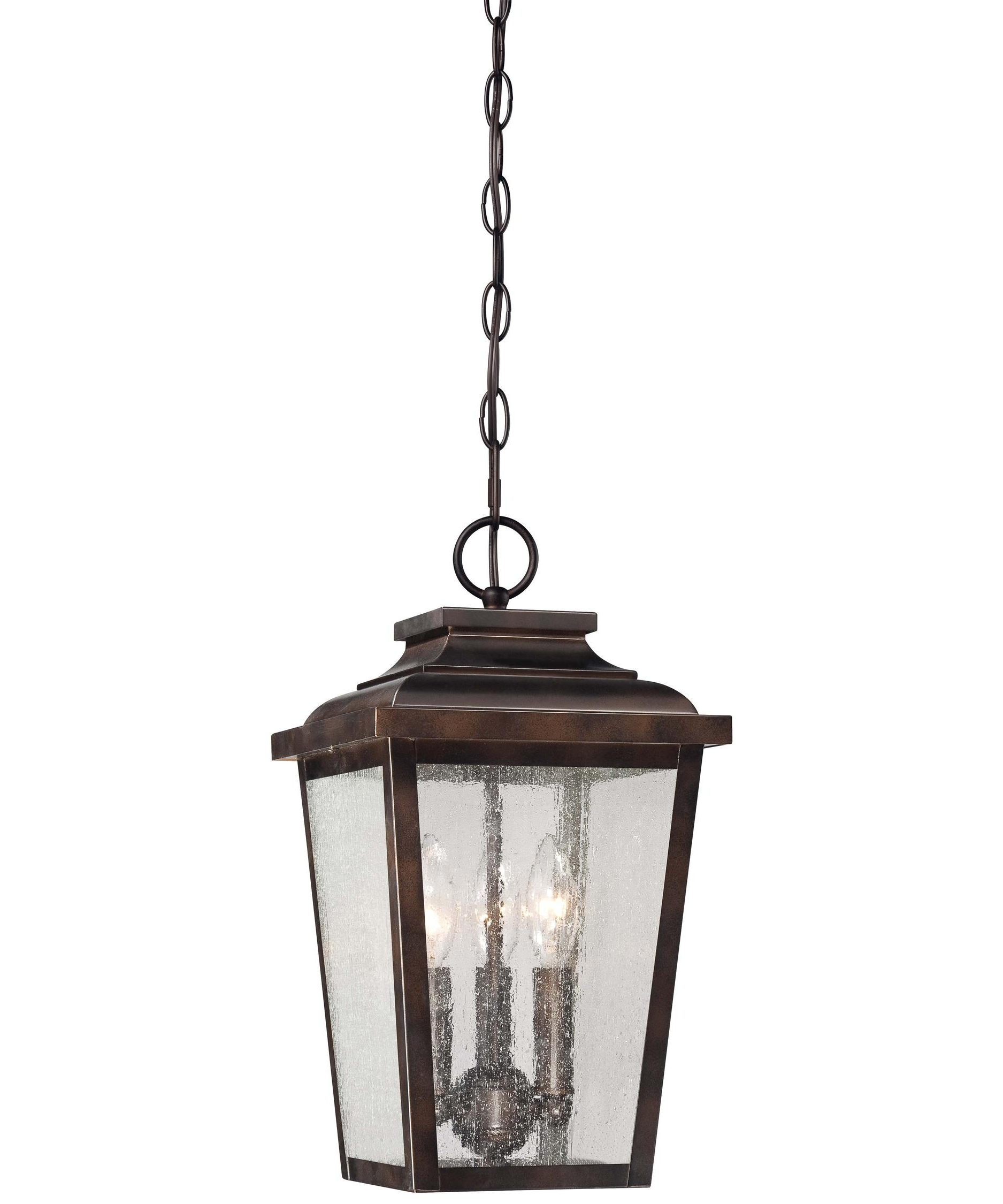 Outdoor Bronze Lanterns Pertaining To Most Recent Minka Lavery 72174 Irvington Manor 9 Inch Wide 3 Light Outdoor (View 10 of 20)