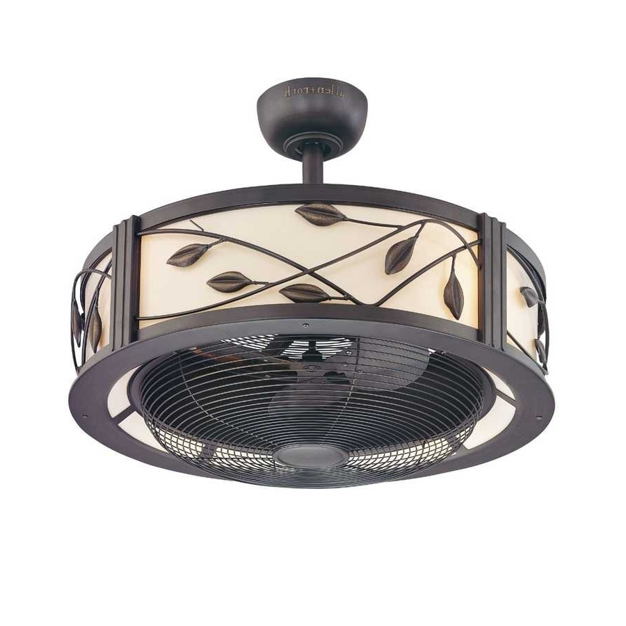 Outdoor Caged Ceiling Fans With Light Throughout Most Recent Outdoor Caged Ceiling Fans Cage Fan With Light 2018 Including (View 10 of 20)