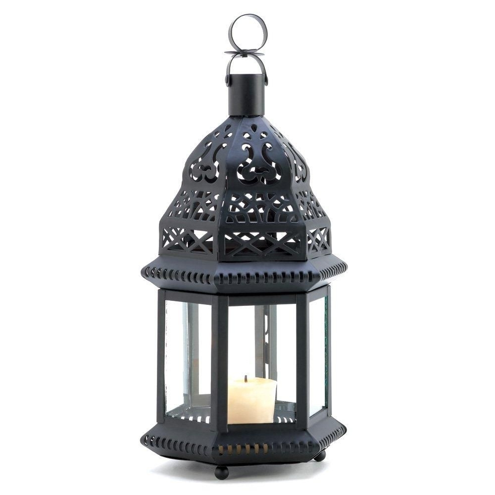 Outdoor Candle Lanterns Regarding Favorite Iron Lantern Candle Holder, Decorative Moroccan Outdoor Metal Candle (Gallery 11 of 20)