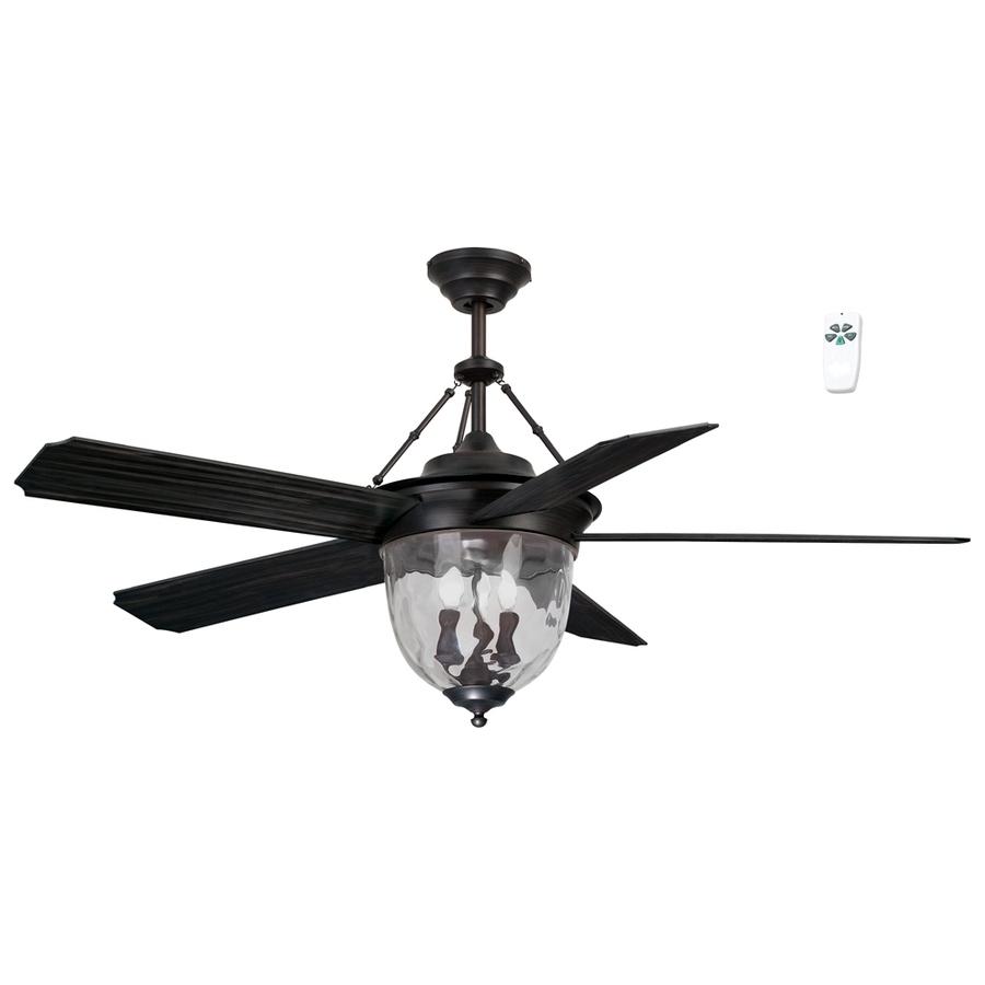 Outdoor Ceiling Fan Light Fixtures Within Favorite Shop Litex 52 In Antique Bronze Indoor/outdoor Downrod Mount Ceiling (View 13 of 20)