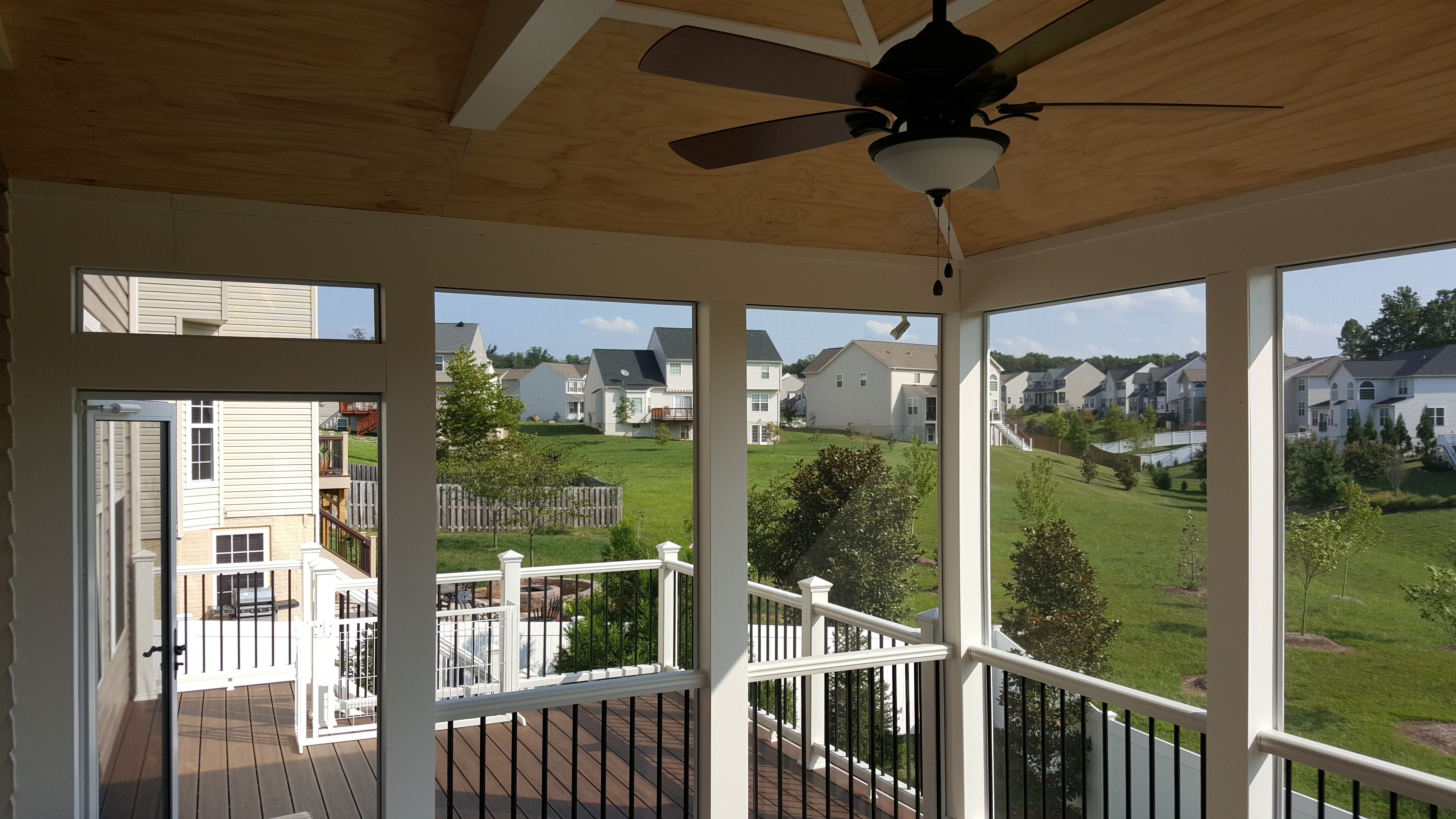 Outdoor Ceiling Fan Under Deck Pertaining To Popular Under Deck Ceiling – Carolina Home Exteriors (View 10 of 20)