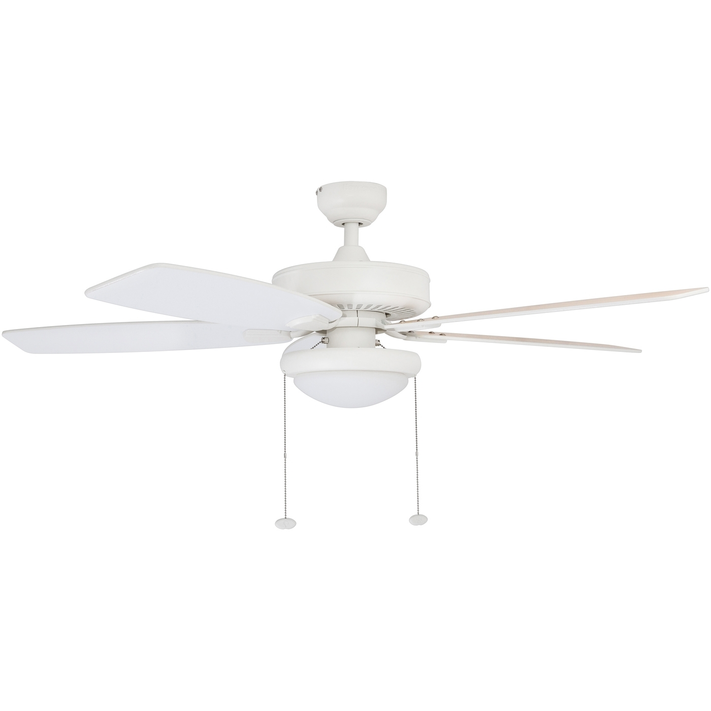 """Outdoor Ceiling Fan With Brake Pertaining To Trendy Honeywell Blufton 52"""" White Outdoor Ceiling Fan – Walmart (View 14 of 20)"""