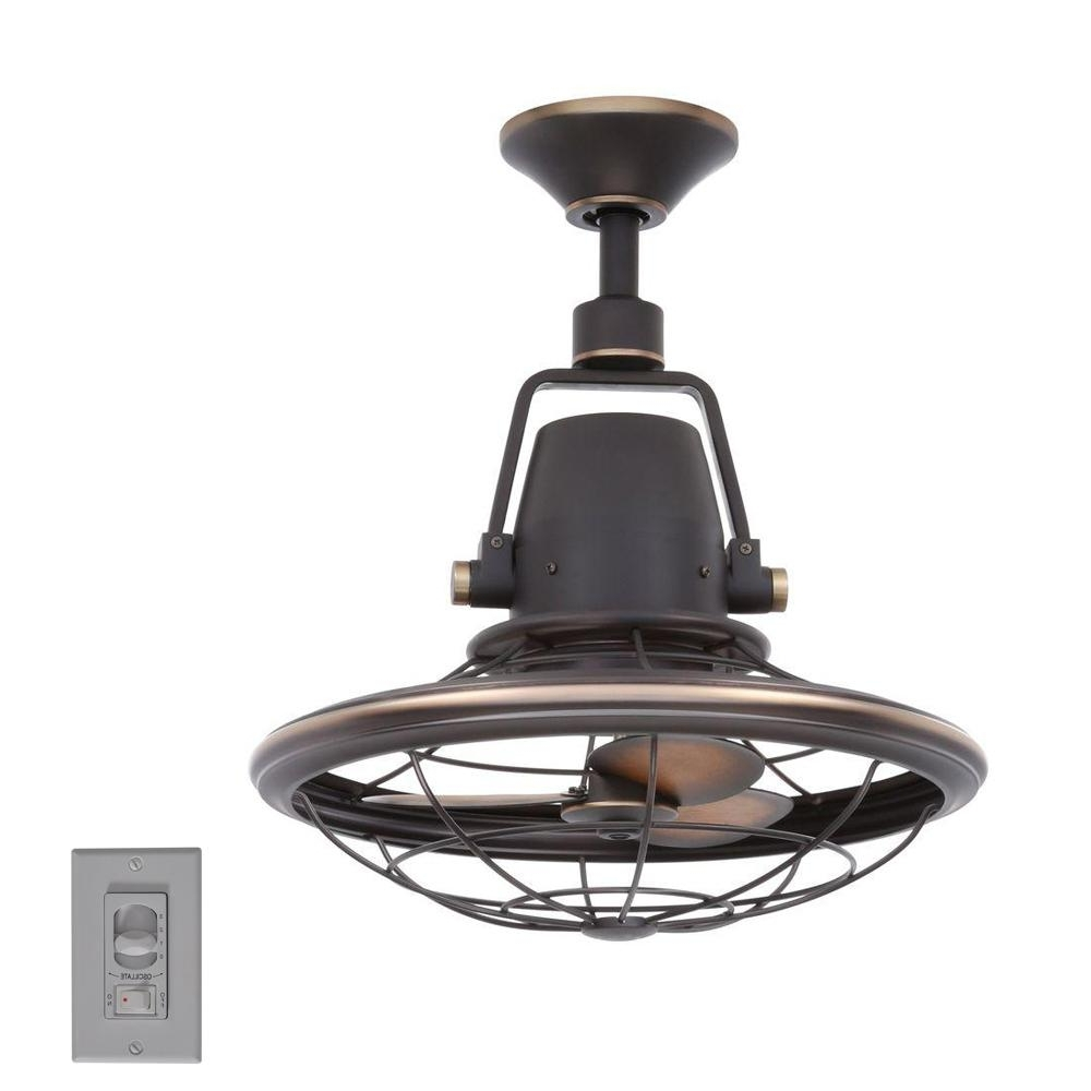 Outdoor Ceiling Fans At Home Depot Intended For Trendy Home Decorators Collection Bentley Ii 18 In (View 10 of 20)