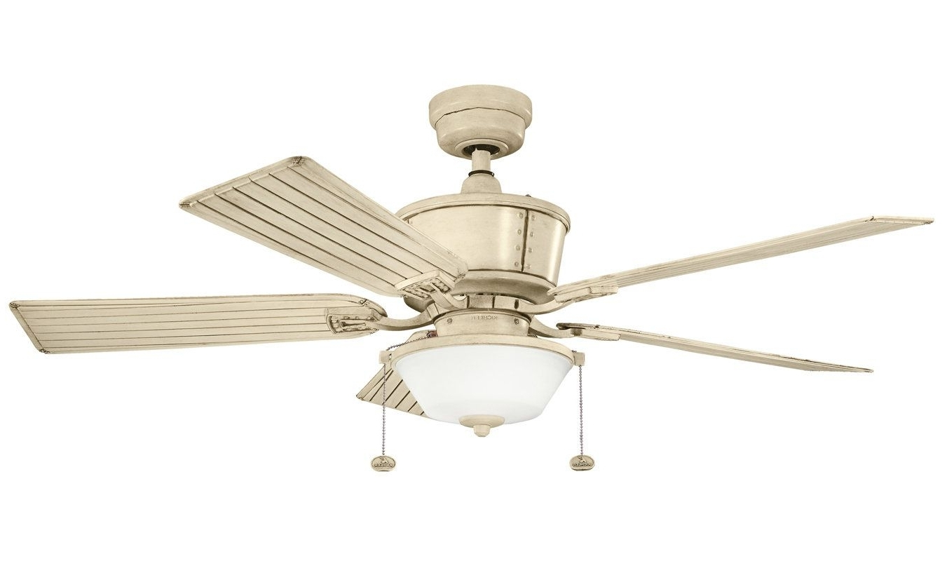 """Outdoor Ceiling Fans At Kichler Regarding Well Known View The Kichler 300162 Cates 52"""" Outdoor Ceiling Fan With 5 Blades (View 16 of 20)"""