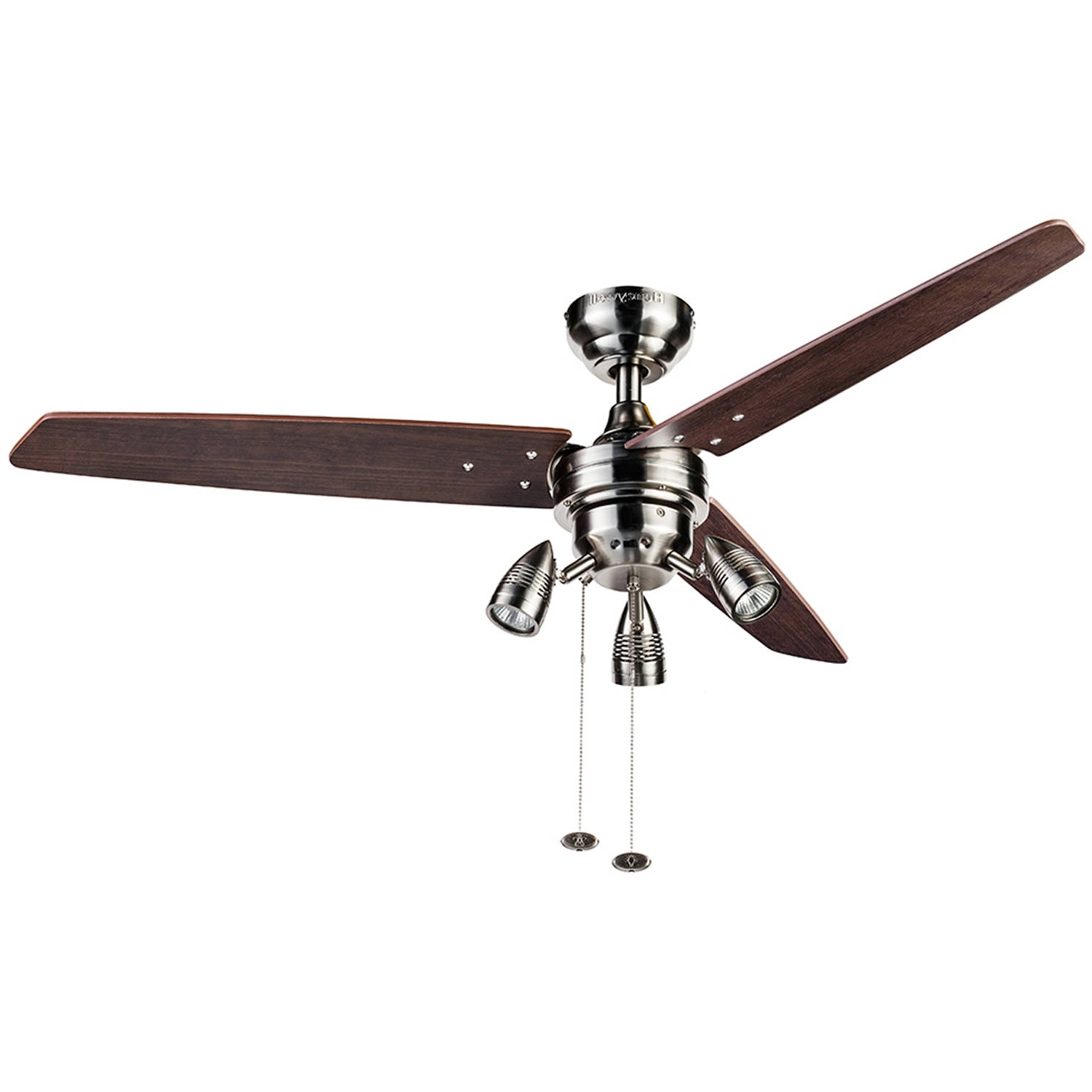 "Outdoor Ceiling Fans At Walmart With Regard To Widely Used 42"" Mainstays Hugger Indoor Ceiling Fan With Light, White – Walmart (Gallery 4 of 20)"