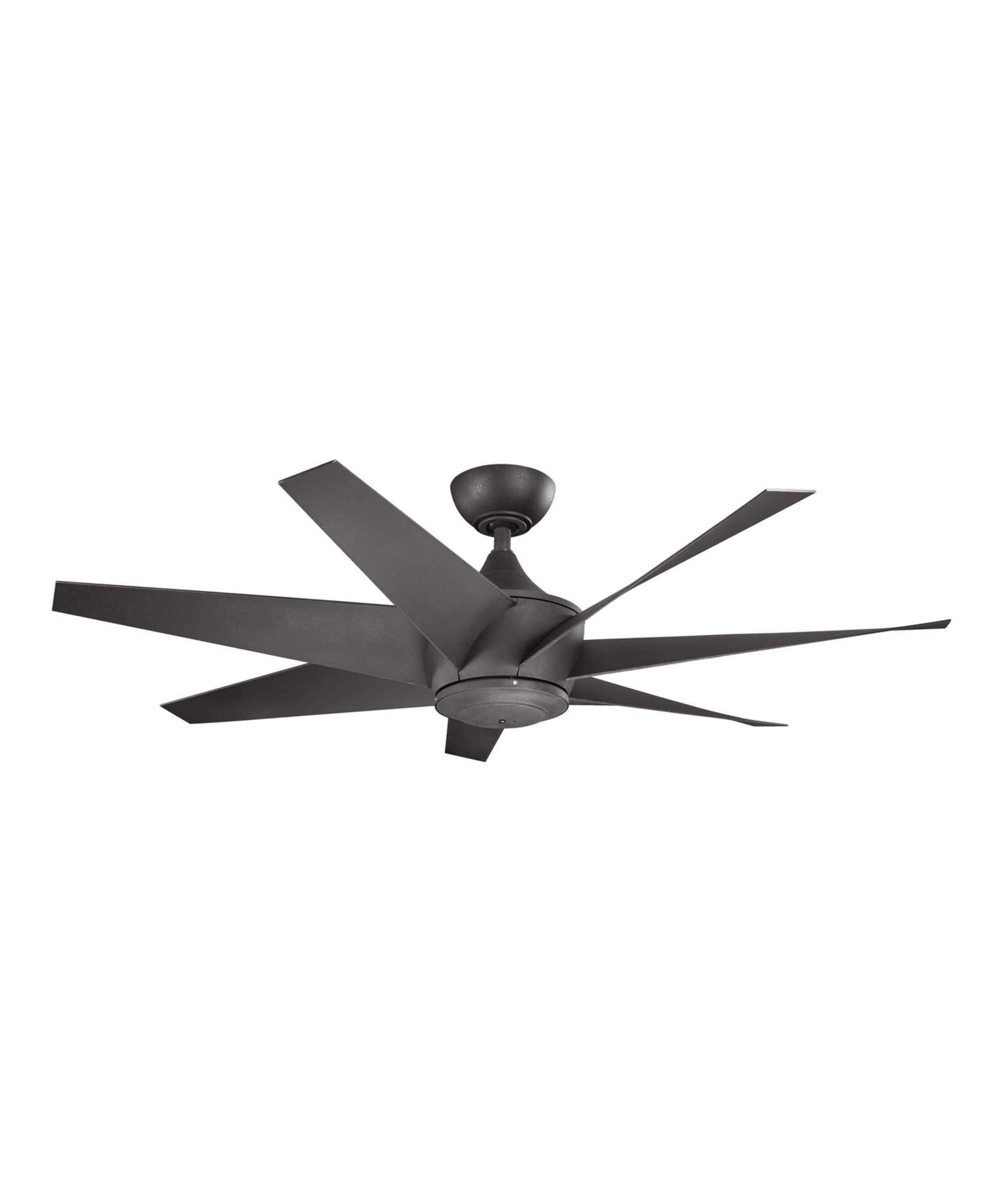 Outdoor Ceiling Fans For 7 Foot Ceilings Intended For Latest Kichler Lehr Ii 54 Inch 7 Blade Ceiling Fan (View 16 of 20)