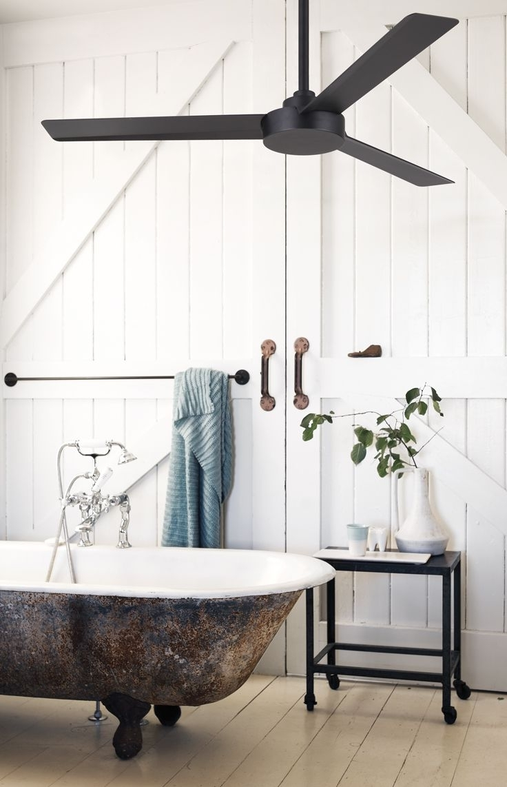 Outdoor Ceiling Fans For Barns Within 2018 Bathroom: Interesting Modern Utility Of Digital Lowes Bathroom Fan (View 17 of 20)