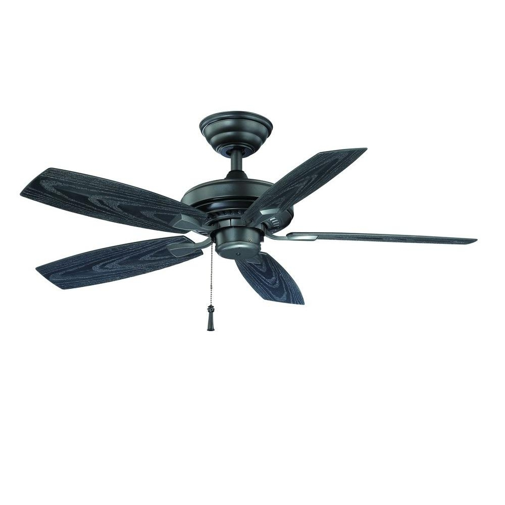 Outdoor Ceiling Fans For Canopy Throughout Recent Hampton Bay Gazebo Ii 42 In. Indoor/outdoor Natural Iron Ceiling Fan (Gallery 8 of 20)