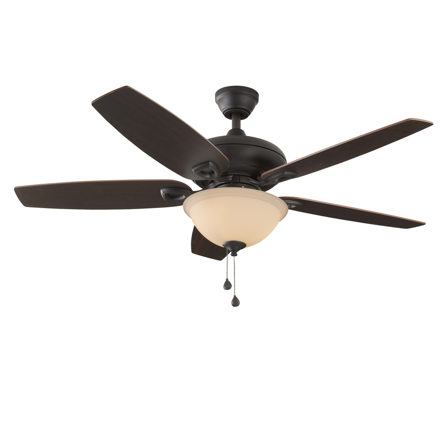 Outdoor Ceiling Fans For Coastal Areas Pertaining To Latest Shop Harbor Breeze Coastal Creek 52 In Bronze Indoor Ceiling Fan (View 14 of 20)