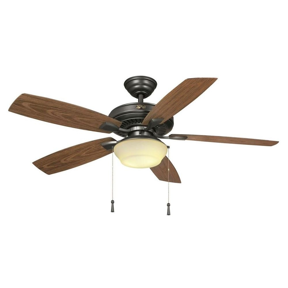 Outdoor Ceiling Fans For Gazebos For Widely Used Hampton Bay Gazebo 52 In (View 13 of 20)