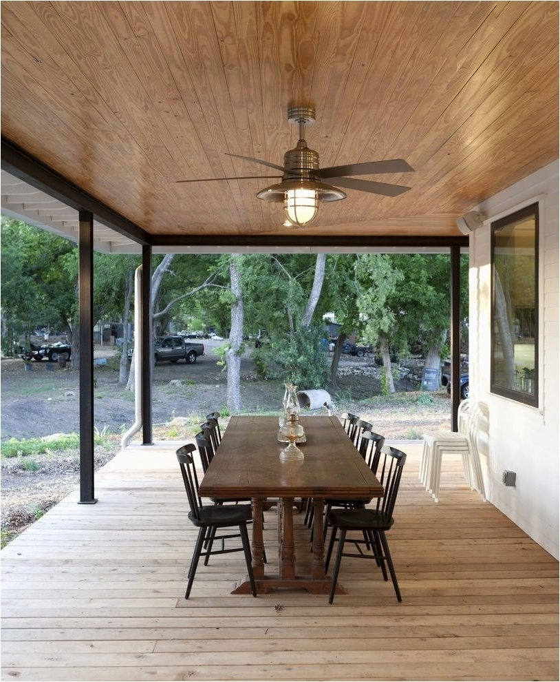 Outdoor Ceiling Fans For Patios Pertaining To Most Popular Outdoor Wood Ceiling Planks Outdoor Fans For Patios Lovely Ceiling (View 14 of 20)