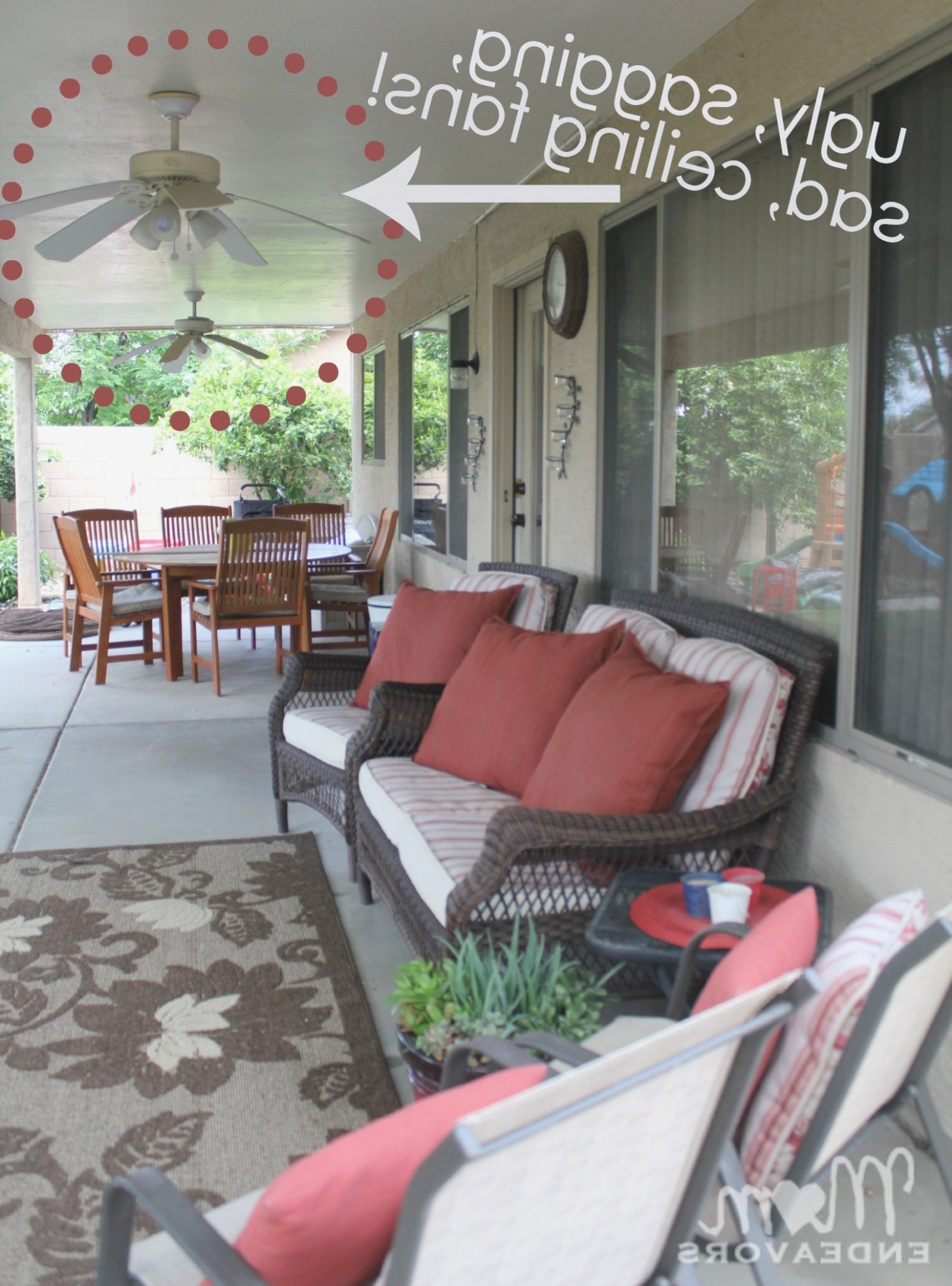 Outdoor Ceiling Fans For Patios Regarding Newest Patio Lighting – Outdoor Patio Ceiling Fans – The Interior Design Ideas (View 8 of 20)