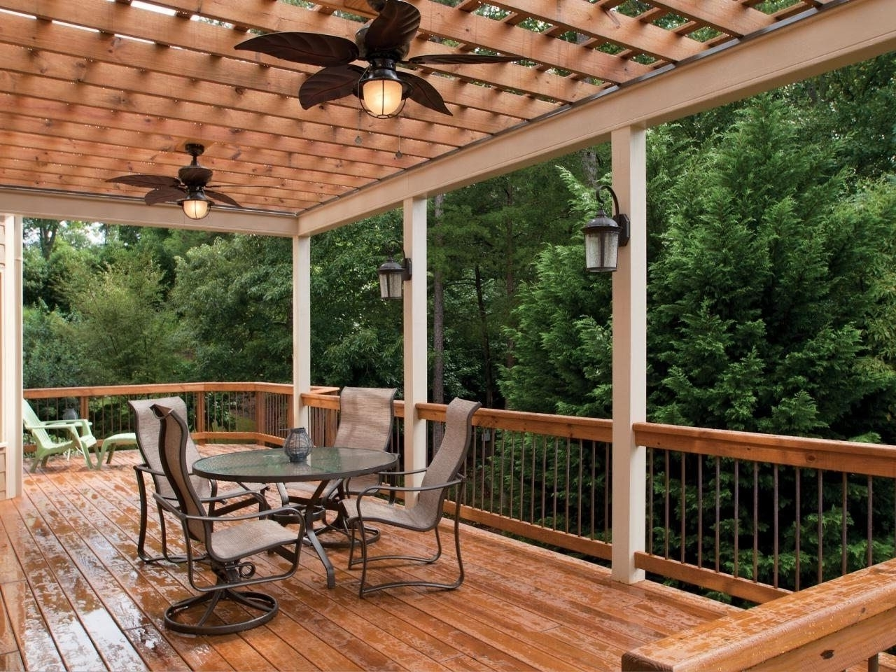 Outdoor Ceiling Fans For Pergola With Well Known Outdoor Pergola Ceiling Fan (View 2 of 20)