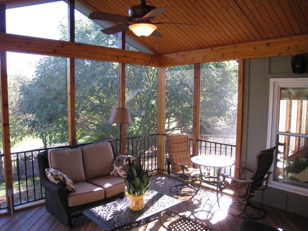 Outdoor Ceiling Fans For Porch Within Newest Low Profile Outdoor Ceiling Fans With Light In Farmhouse With (View 13 of 20)
