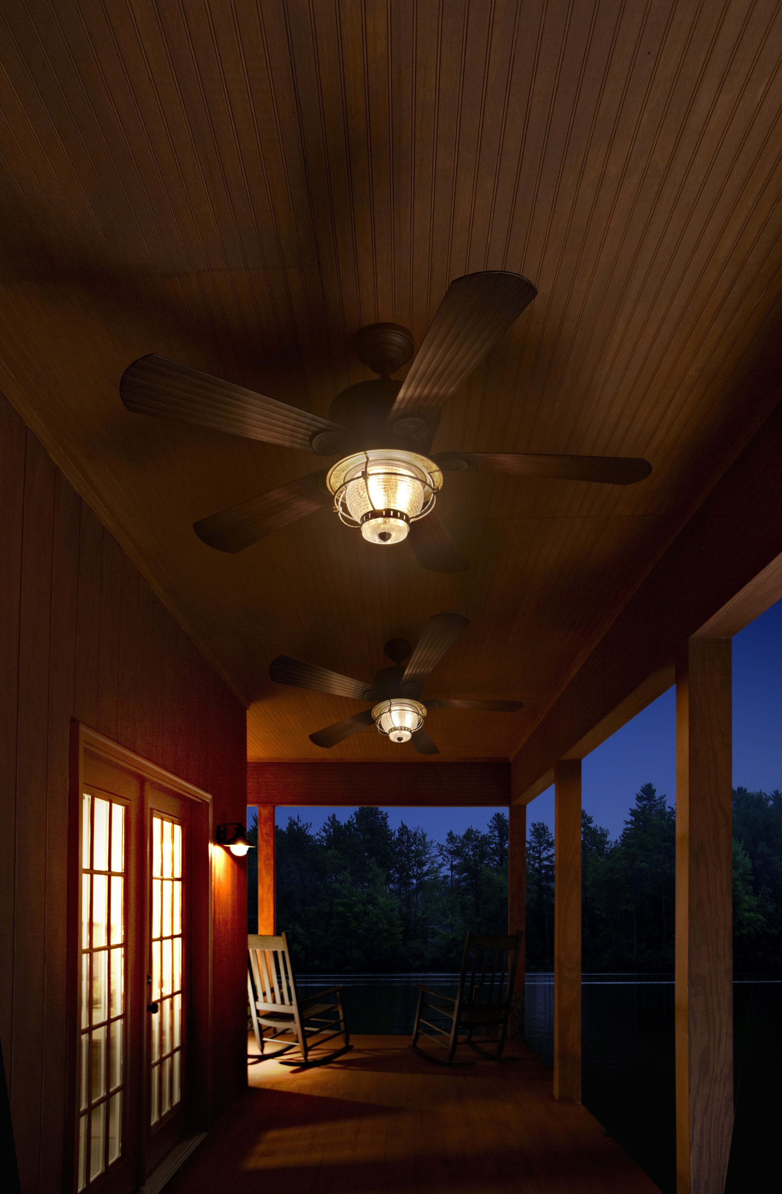Outdoor Ceiling Fans For Porches For 2019 Be Prepared For The Summer Heat With Harbor Breeze Outdoor Ceiling (View 9 of 20)