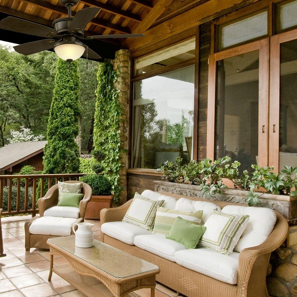 Outdoor Ceiling Fans For Porches For 2019 Stylish Ceiling Fans For Outdoor And Indoor (View 10 of 20)