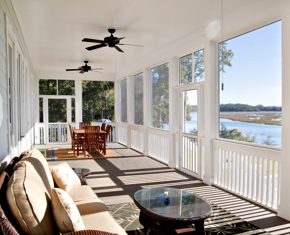 Outdoor Ceiling Fans For Screened Porches Regarding Best And Newest Ceiling Fans For Porches – Photos House Interior And Fan (View 7 of 20)
