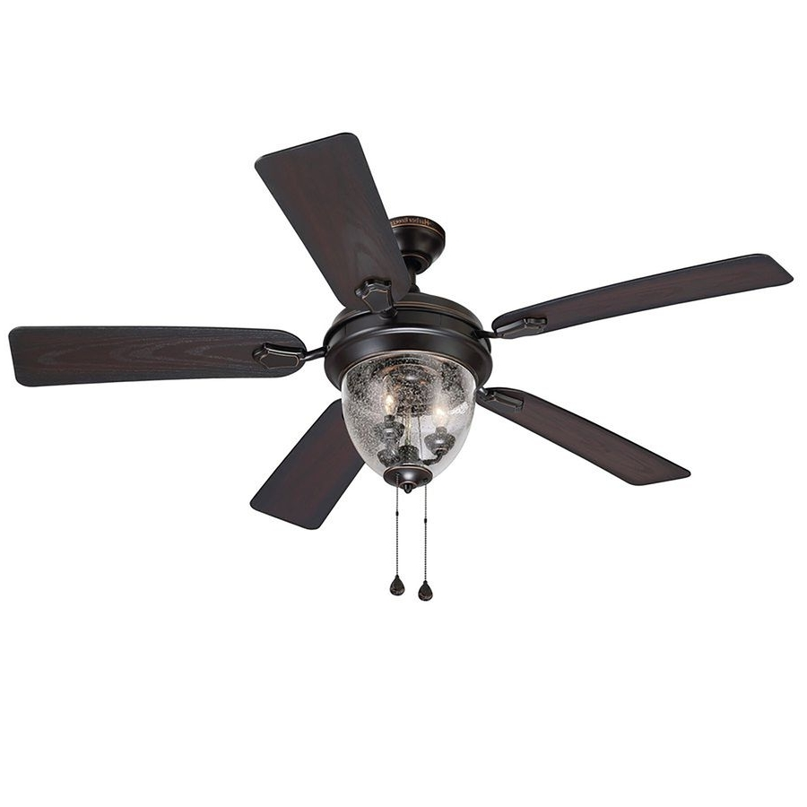 Outdoor Ceiling Fans For Windy Areas Inside 2019 Harbor Breeze Ellesmere 52 In Oil Rubbed Bronze Downrod Or Close (View 14 of 20)