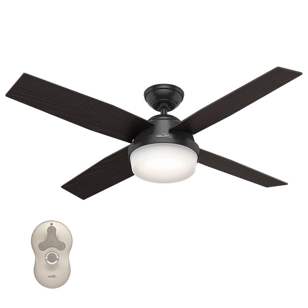 Outdoor Ceiling Fans Under $150 In Popular Hunter – Ceiling Fans – Lighting – The Home Depot (View 1 of 20)